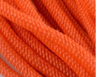 10 yards, orange jute deco mesh tubing, deco mesh tubing, deco flex tubing, deco mesh, wreaths, wreath supplies, mesh tubing