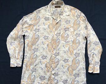 Paisley button shirt-Psychedelia-garage rock-60's punk