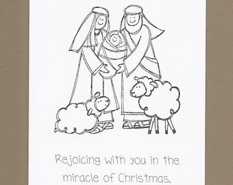 Childrens Christmas Thank You Cards Fill In The Blank