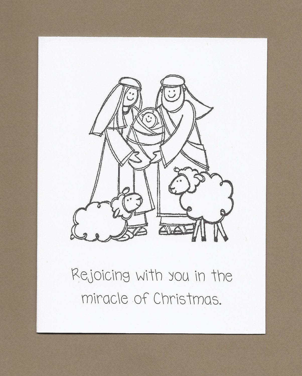 Holy Family Set Of 4 Color Your Own Christmas Cards Ask 4