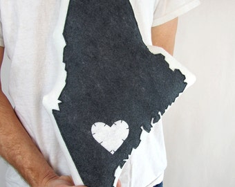 Customizable Maine State Pillow