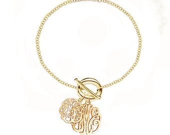 Handcrafted Couples Monogram Initials (Order Any Initials) - Sterling Silver & Gold