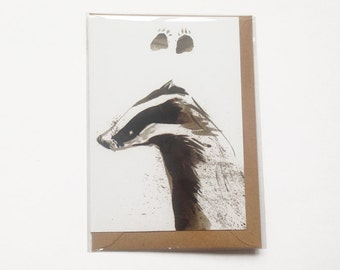Badger Paws Card