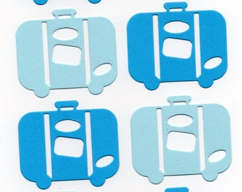 Suitcases punch cuts travel vacation Scrapbooking card making crafting embellishments