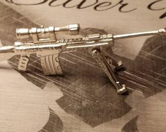 999 fine silver sniper rifle with COA 24 grams