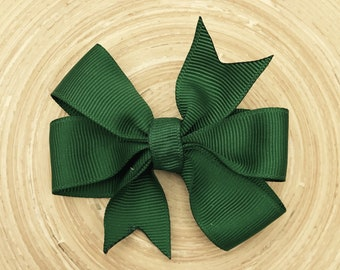 Forest green pinwheel bow