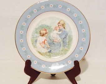 Tenderness commemorative plate, 1974 Avon vintage plate, limited edition plate made by Pontesa Ironstone exclusively for Avon