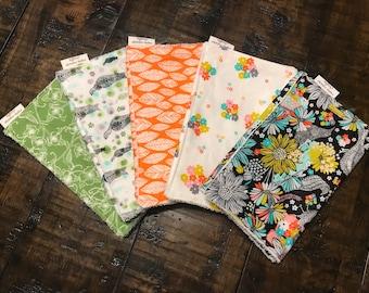 Colorful Floral Burp Cloth Set