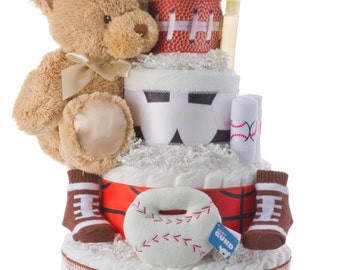Lil' Athlete Diaper Cake by Lil' Baby Cakes