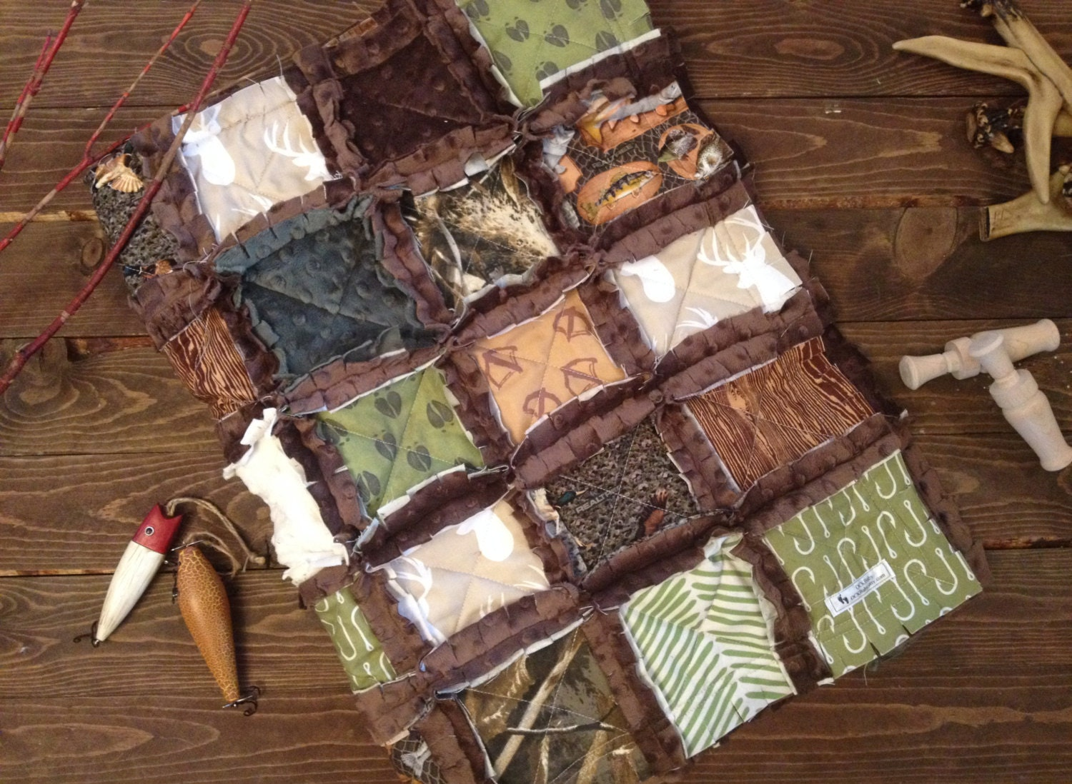 ULTIMATE HUNTER™ Baby Rag Quilt Exclusively from OCKBaby : hunting quilts - Adamdwight.com