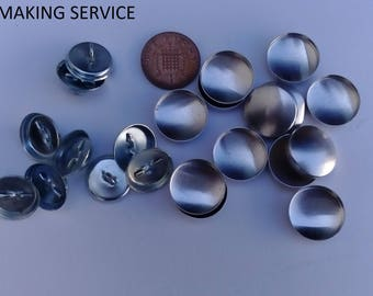 10 x no 30 wire loop upholstery buttons made using your fabric.BUTTON MAKING SERVICE.