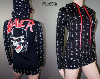 Slayer Heavy Metal Inverted Cross Pullover Hoodie