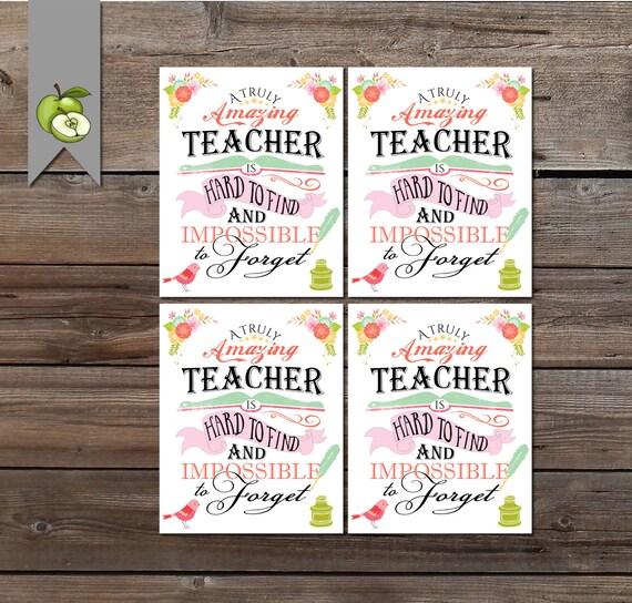 Teacher Appreciation Gift Tag A Truly Amazing Teacher Gift