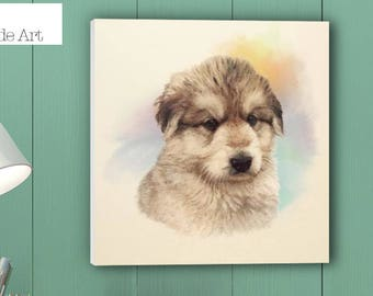 Dog portrait, Dog Print, Dog painting, Dog Art,Dog Gift, Dog Present, Dog Lovers, Dog. German Shepherd (Oscar) - Sell UK/USA & Australia