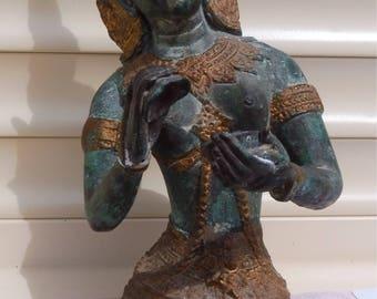 Superb Vintage Bronze and Gilt Thai Deity.