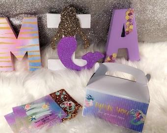 "8"" Mermaid themed letters"