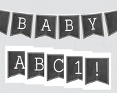 Chalkboard Baby Shower Ba...