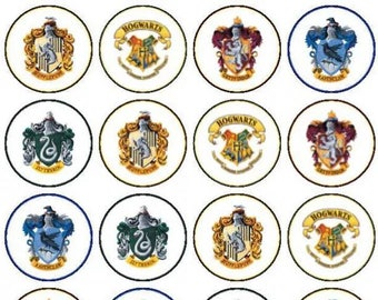 """Harry Potter themed cupcake toppers PRE CUT  30 × 1.5"""""""