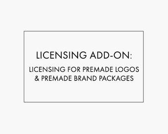 Licensing Add-On for Premade Logo Design and Premade Brand Packages