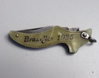 antique shoe shaped pocket knife