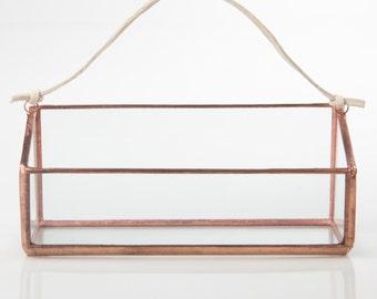 Mini Rectangle Hanger Terrarium // Clear Glass // Planter for Indoors