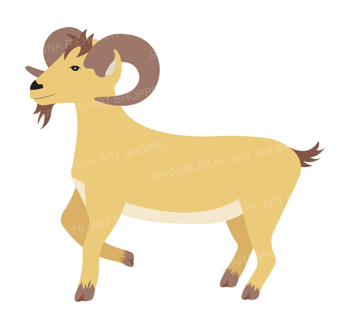 Farm Clipart Goat Art Barn Life Commercial Use Baby Animal for Kid Goat Clipart  181pct