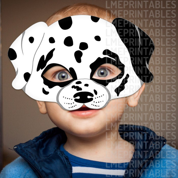 Dalmatian Dog Mask Printable Animal Childrens Halloween Masks