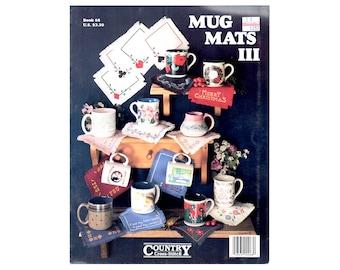 Mug Mats Cross Stitch Leaflet, Cross Stitch Pamphlet, Mug Mats Cross Stitch Patterns, Mug Mats Patterns, by NewYorkTreasures Etsy