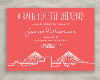 Savannah Bachelorette Invitation