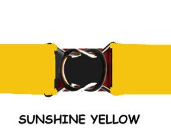 "STRETCH BELT - Sunshine YELLOW 1"" Elastic * 3-Sizes for Kids & Adults *  Adjustable on Both Sides"