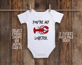 Lobster Onesie©, Lobster Baby Clothes, You're My Lobster, Nautical Baby Shower, Nautical Baby Gift, Ocean Baby Clothes, Cute Baby Girl