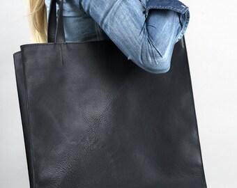 Elegant Simple Leather Bag Genuine Leather Women Tote Dark Grey Color