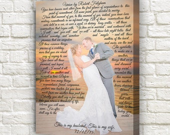 Wedding song lyrics wall art wedding dance lyrics first personalized wedding first song lyrics canvas with first dance picture stopboris Images