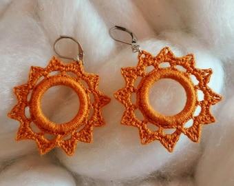 Jewelry earrings Bohemian sun light mustard