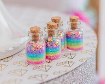 Magic of a Unicorn, Large Size D Jars, pastel, rainbow, stars, Unicorn Party, Unicorn Favor