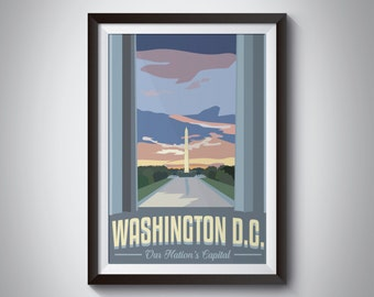 Washington DC | Travel Poster | Instant Download