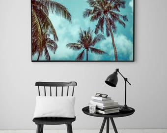 50%OFF,  Palm Tree Print Palm Leaves, Nature Decor Modern Palm Poster Modern Beach Poster Leaf Printable