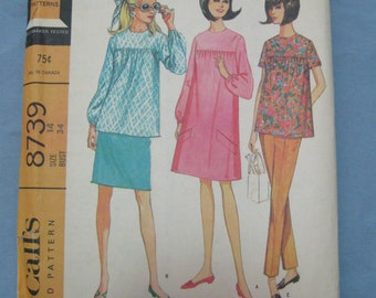 """McCall's Vintage Maternity Pattern Bust Size 34"""" # Pattern #Sewing #Maternity #MCCalls Pattern #Maternity Dress #Free Shipping"""