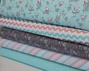 Camelot Fabrics Little Bird Fat Quarter Bundle - 100% Cotton, Quilting and Patchwork Fabric