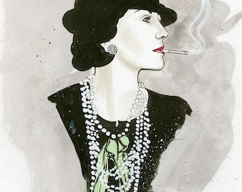 Coco Chanel Original Art