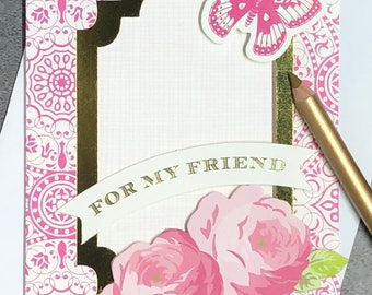 For My Friend - Sending Well Wishes Fabulous Flip Card