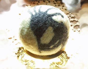 Kokopelli the Trickster Hunchback Flutest Felted Wool Ball