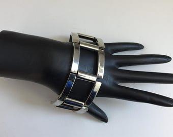Silver Bracelet, Modernist Silver Bracelet