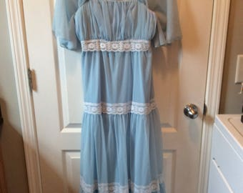 Vintage Sheer Empire Waist Dress