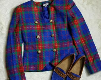 Kate McNaughton Vintage Plaid Blazer