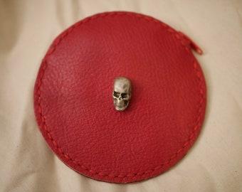Skull leather wallet