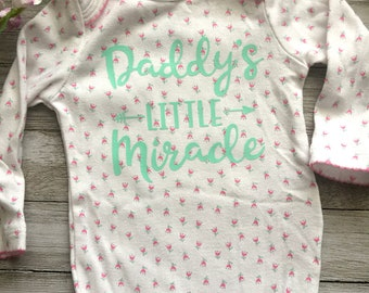 Daddy's little miracle long sleeve onesie