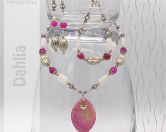Jewelry Set | Necklace, Bracelet, Earrings | Dahlia PG40230843