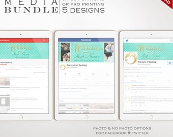Social Media Template Kit - Mermaid Facebook Cover, Twitter Header and YouTube Channel Art Templates - Social Media Brand BDSM AAB