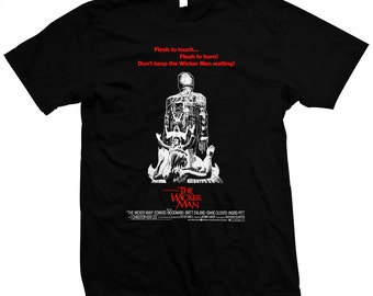 The Wicker Man - Christopher Lee - hand silk screened 100% cotton t-shirt
